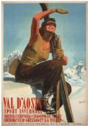 Vintage Travel Poster Val D'Aosta Italy
